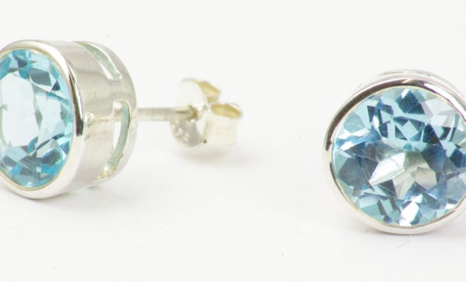 Buy blue topaz earrings online